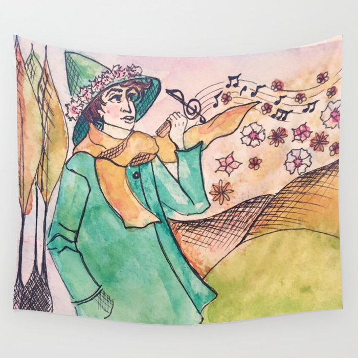 Snuffkin melody Wall Tapestry