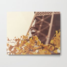 AUTUMN IN PARIS Metal Print