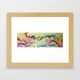 Salt clouds Framed Art Print