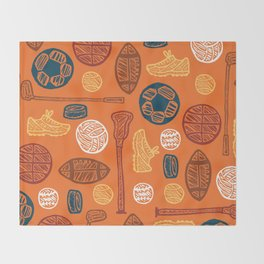 Sports Pattern Throw Blanket