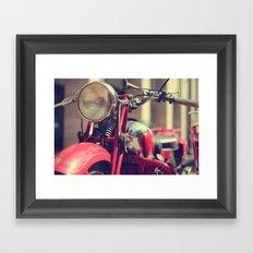 Old style Moto Guzzi Framed Art Print