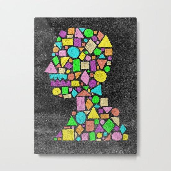 Mosaic Silhouette Metal Print