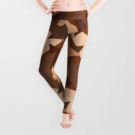 Chocolate Caramels Triangles Leggings