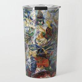 Battle of Lights, Coney Island, Mardi Gras by Joseph Stella (1914) Travel Mug
