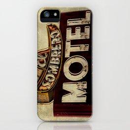 Vintage El Sombrero Motel Sign iPhone Case