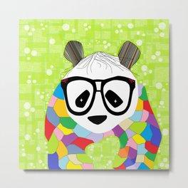 Hipster Panda Metal Print