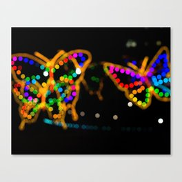 Bokeh Butterfly Modern Photograph Canvas Print