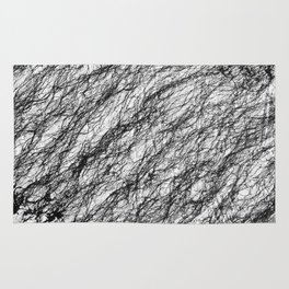 Black and White Connection Rug