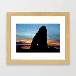 Ruby Beach Sunset Framed Art Print