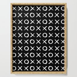 Hugs and kisses OXXOXXOXX in Black Serving Tray