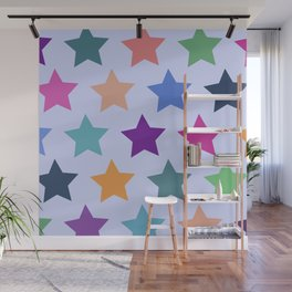 Colorful Stars Wall Mural