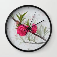 blossom Wall Clocks featuring Blossom by IvanaW