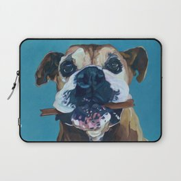 My Happy Abby Boxer Girl Portrait Laptop Sleeve