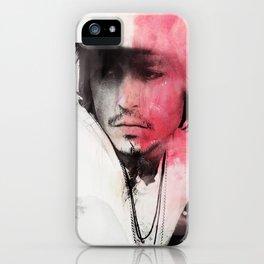 Johnny Depp Artwork iPhone Case