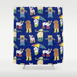 It's Raining Dogs + Dogs Shower Curtain