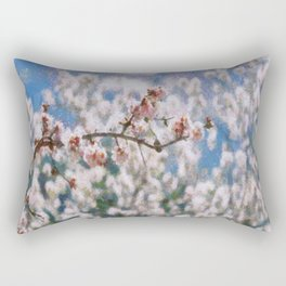 Blooming Almond Tree Rectangular Pillow