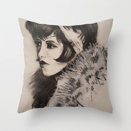 1920's Woman Throw Pillow