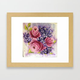 Roses and Lilacs Framed Art Print