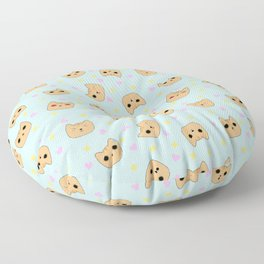 Orange Tabby Pixel Cat Emotes Floor Pillow