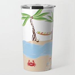 Summer Beach Fun Travel Mug
