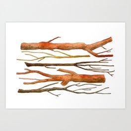 sticks no. 2 Art Print