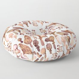 Watercolor Mushrooms Floor Pillow