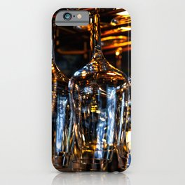 Clean Wineglasses Hang Down In A Bar iPhone Case