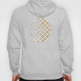 Taupe Floral Pattern Hoody