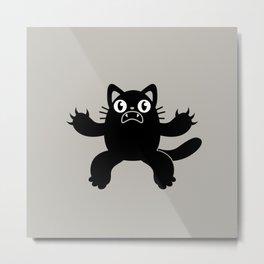 Panic Cat Metal Print