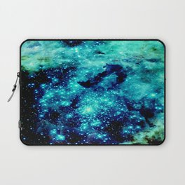 GALAXY. Teal Aqua Stars Laptop Sleeve