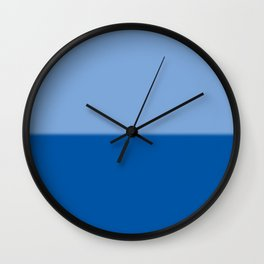 Abstract in two blues Wall Clock