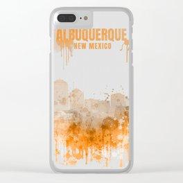 Albuquerque Warm Color Skyline Clear iPhone Case