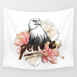 Peace Wreath Wall Tapestry
