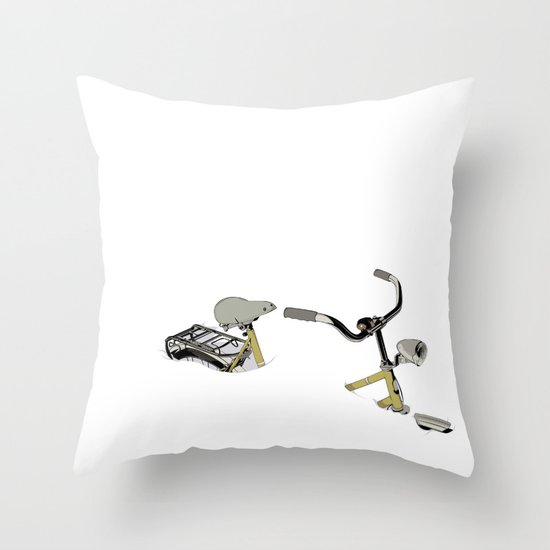 I CAN´T RIDE MY BIKE...!!! Throw Pillow