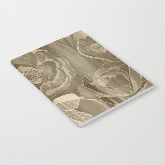 Silk with Roses and Butterflies Notebook