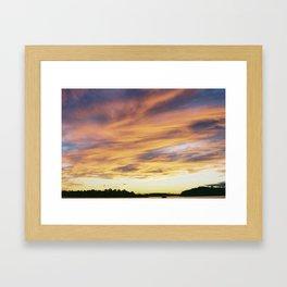 crazy sunset Framed Art Print
