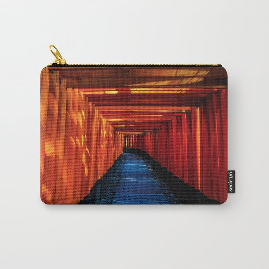 blue orange temple Carry-All Pouch