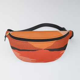 Abstraction_Sunset_Mountains_001 Fanny Pack
