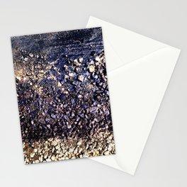 Old blue asphalt Stationery Cards