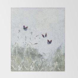A Spell for Creation - butterflies amongst grass Throw Blanket