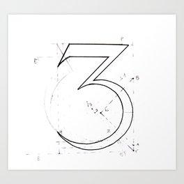 Number 3 Art Print