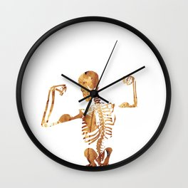 The muscular skeleton Wall Clock
