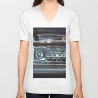 mercedes V-neck T-shirts featuring Vintage Radio Becker Europa by Premium