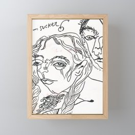 happy suckers Framed Mini Art Print