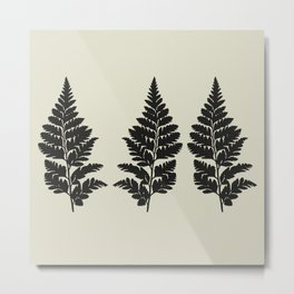 fern in gray Metal Print