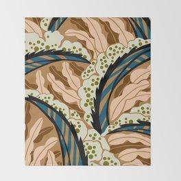 BALINESIA: BIG SKY RANCH, Art Deco Tropical Throw Blanket