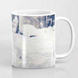 Milk Crate on Bike in Snow Coffee Mug