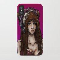 kitsune iPhone & iPod Cases featuring Kitsune by Mika Ishii