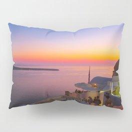 Sunset in Oia,Santorini Pillow Sham