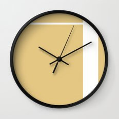 Gold Stripe (2) Wall Clock